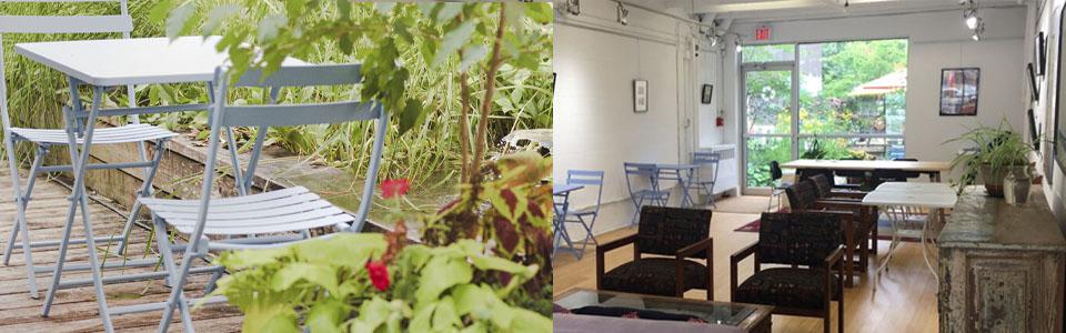 indoor outdoor cafe, vegan cafe, vegan cafe toronto
